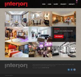 webové stránky salónu interiérového designu