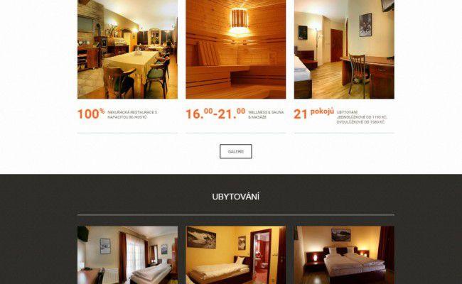 webové stránky hotelu