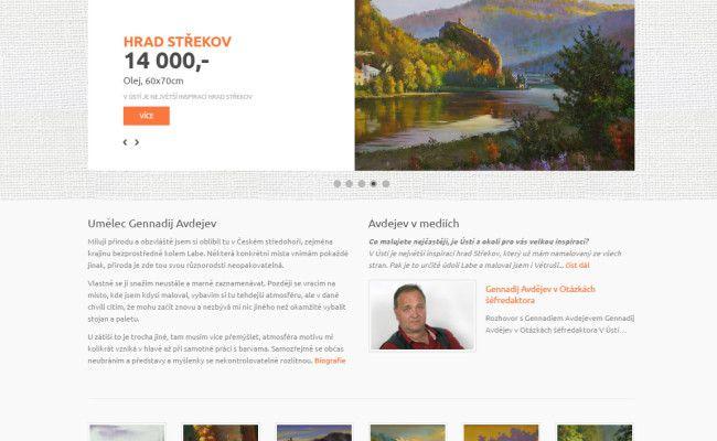webové stránky malíře